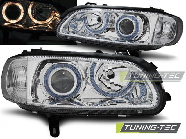 Opel Omega B Lampy Przód Chrom Lub Ciemne Angel Eyes Fk