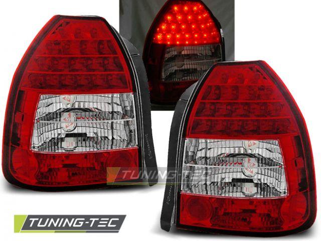 Honda Civic lampy tył LED sreb czerw 96 01 3d. wz.2 TTe