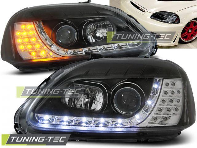 Honda Civic Lampy Przód 95 99 Chrom Lub Ciemne Dayline Tte